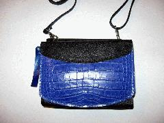 Desert Cobalt Blue Alligatrix Purse Front Closed - Web.JPG